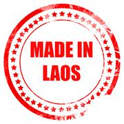 Made in laos Stock Illustration