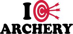 I love Archery Target Stock Illustration