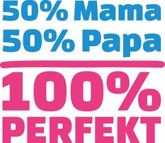 50% Mama 50% Papa 100% Perfect german - stock illustration
