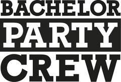 Stock Illustration of Bachelor party crew - fat font