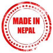 Made in nepal Stock Illustration