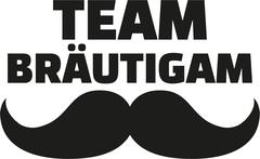 Team Groom with mustache - german Stock Illustration