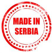 Made in serbia - stock illustration