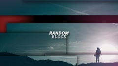 Sliding Random Blocks Stock After Effects