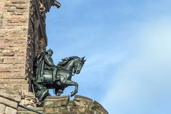 Wilhelm I Monument on Kyffhaeuser Mountain Thuringia, Germany - stock photo