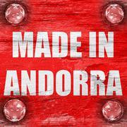 Made in andorra - stock illustration