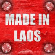 Made in laos - stock illustration