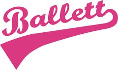 Ballet Word Retro Stock Illustration