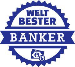 World's best Banker Money - stock illustration