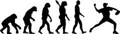 Baseball Evolution Pitcher - stock illustration