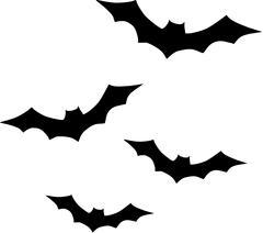 Bats flying Stock Illustration
