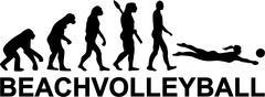 Stock Illustration of Beachvolleyball Evolution