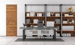 Contemporary small office - stock illustration
