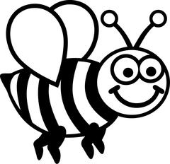 Cartoon Bee - stock illustration