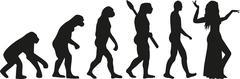 Belly dance evolution - stock illustration