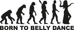 Born to belly dance evolution Stock Illustration