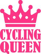 Cycling Queen - stock illustration