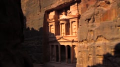 View of the City of Petra. - stock footage