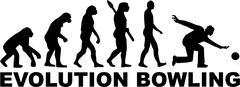 Bowling Evolution - stock illustration