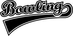 Bowling Word Retro - stock illustration