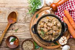Stewed meat Stock Photos