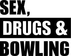 Sex Drugs Bowling - stock illustration