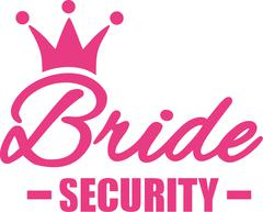 Bride security - stock illustration