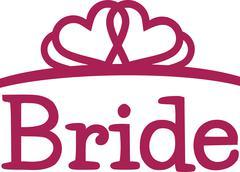 Bride with tiara - stock illustration