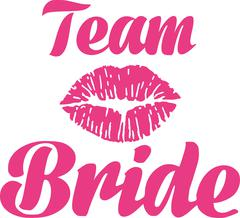 Team bride with kiss - stock illustration