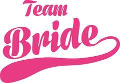 Team bride Stock Illustration