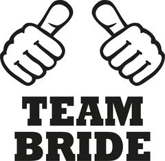 Team Bride with two thumbs - stock illustration