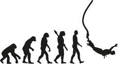 Stock Illustration of Bungee jumping evolution
