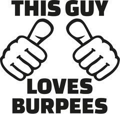 This guy loves burpees - stock illustration