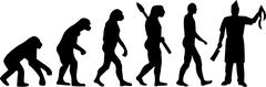 Butcher Evolution Stock Illustration