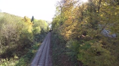 Steam Engine Train locomotive. old nostalgic technology. railway transportation Stock Footage