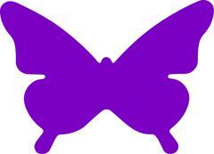 Butterfly Symbol - stock illustration