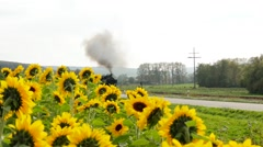 old steam locomotive train. steam engine power. nostalgic historical trains - stock footage