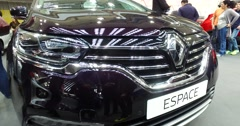 Serbia,Belgrade Car Motor Moto show March 2016 Renault Espace Stock Footage