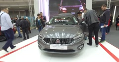 Serbia,Belgrade Car Motor Moto show March 2016 Fiat Tipo 2 Stock Footage