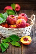 nectarine - stock photo