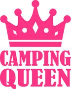 Camping Queen - stock illustration