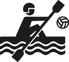 Canoe polo icon - stock illustration