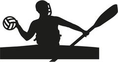 Canoe polo player Stock Illustration