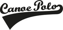 Canoe polo word retro - stock illustration