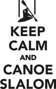 Keep calm and canoe slalom Stock Illustration