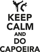 Keep calm and do capoeira - stock illustration