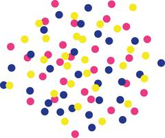 Colorfull confetti background - color changeable Stock Illustration
