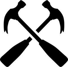 Carpenter Hammer Tools - stock illustration