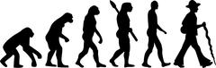 Carpenter Journeyman Evolution - stock illustration