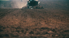 Agriculture background - farmer plowing field. Stock Footage